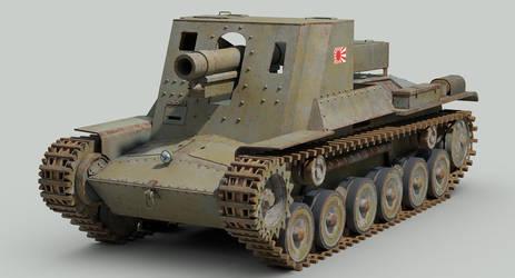 WW2 IJA Type 4 Ho-Ro self propelled gun by sandu61