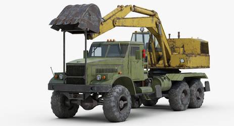 KRAZ255 EOV4421 Truck Loader by sandu61