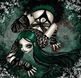 Goth green spider .. ekhm.. by vinegar