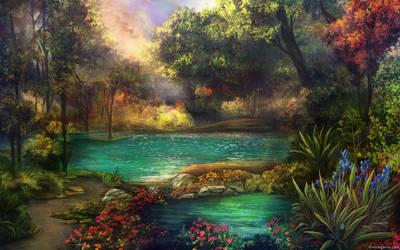 Cinders - lake by vinegar