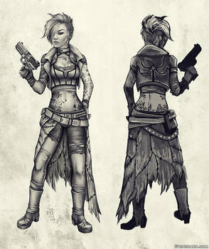 Cyberpunk Character Design - WIP by vinegar