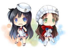Hot chan and Cold chan by ninjinshiru