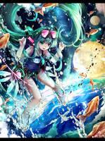 Cosmic fish blow by ninjinshiru