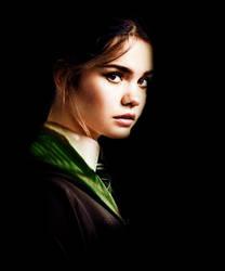 Mia Mitchell as Slytherin by PoketJud