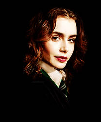 Lily Collins as Slytherin by PoketJud