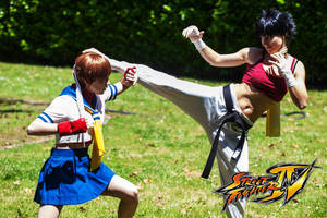 Street Fighter_ S a k u r a Vs M a k o t o by FairyScarlet
