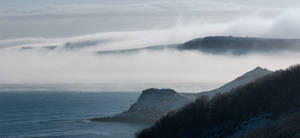 Mist rolling over the cliffs by BikeBoyPunk