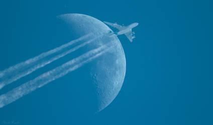 Moon flight by Csibu83