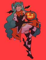 halloween miku by snyorf