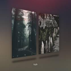 Minimal outline theme - KLWP by izyman