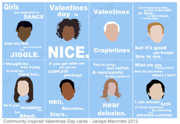 Community Valentines Day Card Set by jmarchitto