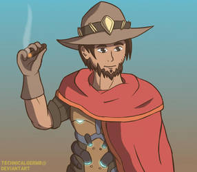 McCree Overwatch by TechnicalGerm8