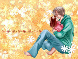 Haruhi and Papa by Anael08