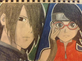 Father and Daughter (Boruto: Naruto the Movie)  by scootalootheotaku007