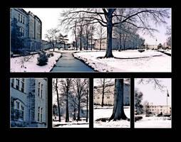 Snowy Landscape Poster by SBibb