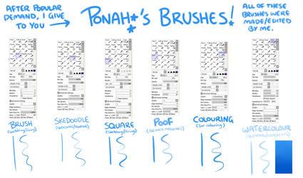 MY BRUSHES! by Ponacho