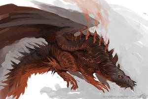 Speedpaint - Volcanic Dragon by DefiledVisions