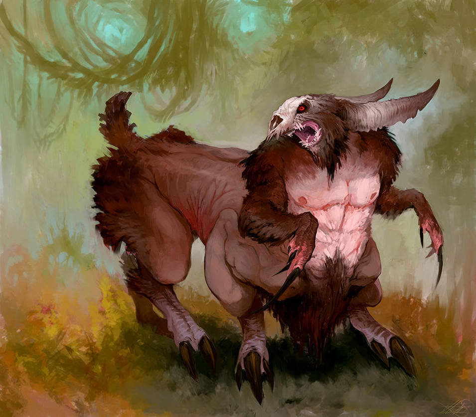 Creature: Satyr Slayer by DefiledVisions