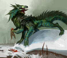 Amphibious Warbeast by DefiledVisions