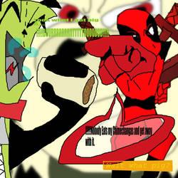 Gir VS Deadpool by kdog566
