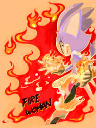 FIRE WOMAN by manaita