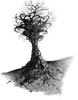 Twisting Tree by dizdrawspictures