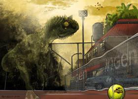 Jurassic Park Carnotaurus by pauloomarcio