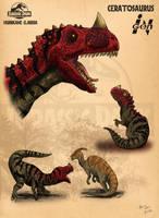 Ceratosaurus by pauloomarcio