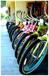 bikes in a row by Awi