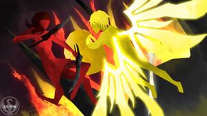 RWBY WoR: Star Knight of Vale vs. Fall Queen by NickShepard117
