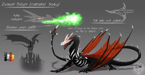 RWBY: Grimm Classification: Evolved Dragon (Smaug) by NickShepard117