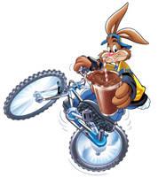nesquik bunny on bike by teobalin