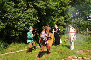 Training the serfs by Dewfooter