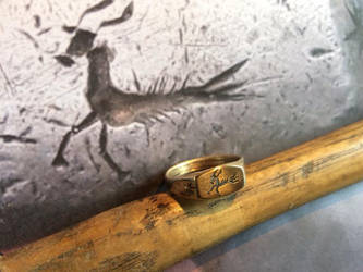 Roman capricorn ring by Dewfooter