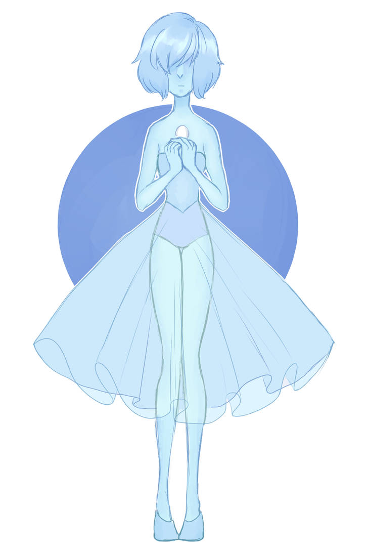 I though that I should draw some fanart for Stevenbomb so I doodled Blue Daimonds Pearl. I though she was so cute.