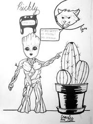 Inktober 2018 Day 25: Prickly by CaptainSguiggle