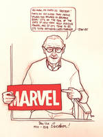 Stan Lee: 1922-2018 by CaptainSguiggle