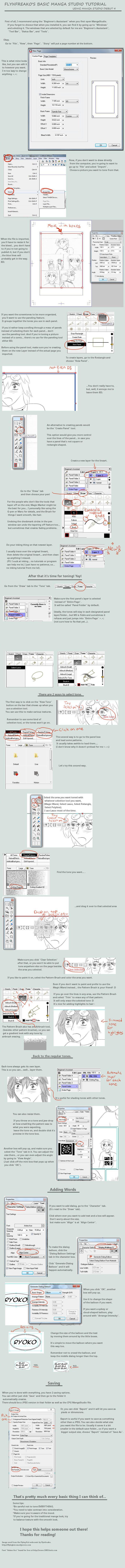 Manga Studio Tutorial: debut 4 by flynfreako