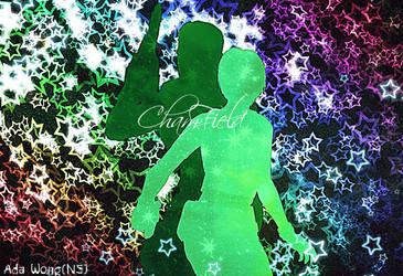 Rebecca x Chris{ChamField}-Colored Silhouette by ada3763