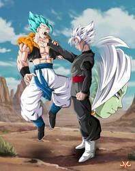 Black Goku VS Gogeta by Maniaxoi