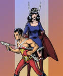 Nelvana of the Northern Lights and Brok Windsor by Theclayman