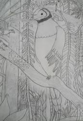 Quetzal Drawing Request- Base Sketch by Quetzal-Queen