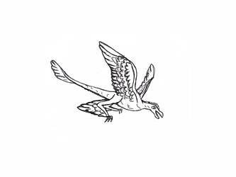 Marauding Microraptor Adopt Draft by Quetzal-Queen