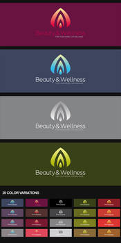 Beauty + Wellness Logo by nadaimages