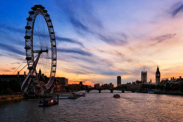 London Sunset by Matthias-Haker