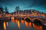Amsterdam Canals at Night by Matthias-Haker