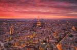 Burning Sky over Paris by Matthias-Haker