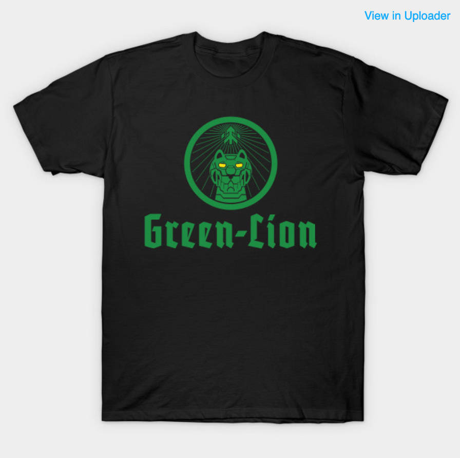 Green Lion Drinking Logo by Samoht-Lion