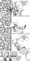 Dumb Bunny, Dumb Fox by MissMikopete