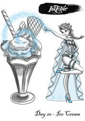 INKTOBER '18 - Day 20 ICE CREAM by MissMikopete